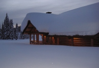 The lodge at Lolo Pass