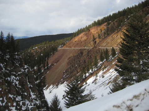 Elements of the climb up the pass to Georgetown lake.