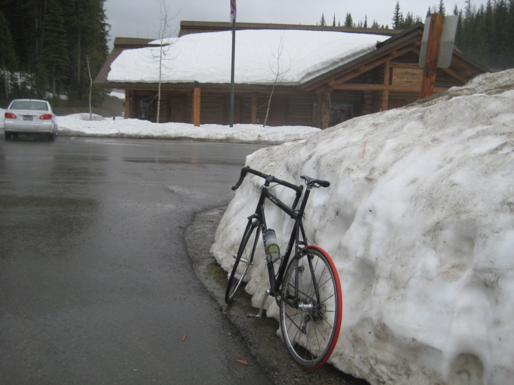Lolo Pass still has snow and it is almost June.