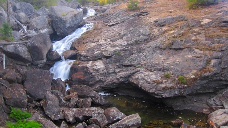 Falls dumping into Como lake