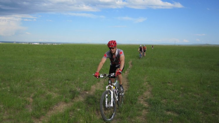 First singletrack is cow trail