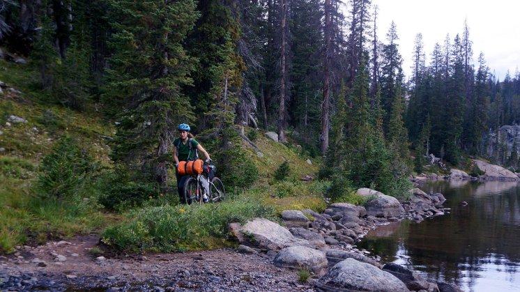 Mo navigates Bear Lake