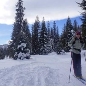 Mo, Erin, and I wetn skiing at Lolo Pass