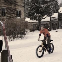 Norman rides downtown Garnet