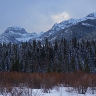 From the end of Hyalite Lake