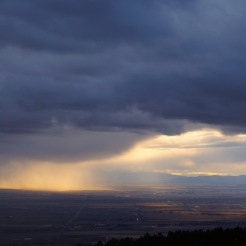 A storm approaching in the Bozeman Valley