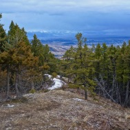 Looking down the ridge back to Bozeman.