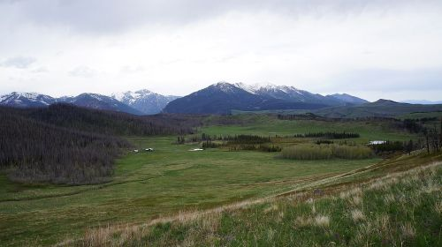 Homestead on top of the ridge