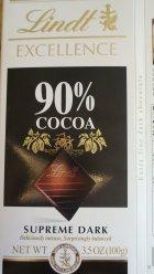 Chocolate, cocoa butter, cocoa powder processed with alkali, sugar, and bourbon vanilla beans
