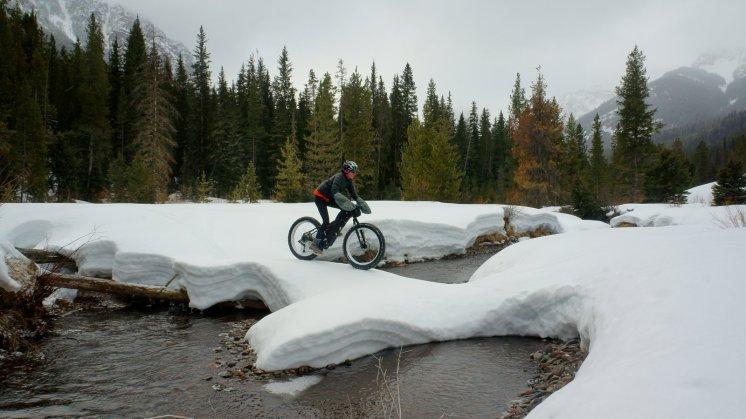 Fat Biking Across Creek