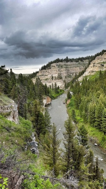 A storm approaches sluice box state park