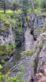 Belt creek runs through the sluice box canyon