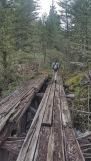 Mo hikes over a old tressle