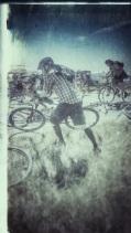 Bill grabs his bike