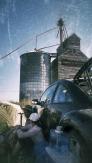 The grain elevators are Rapelje's icon on the horizon