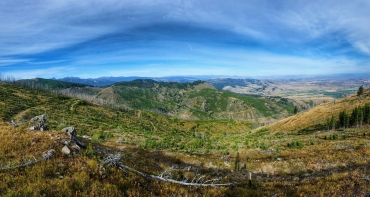 Looking off towards the Gallatin Gateway from camp.