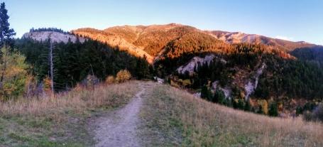 The sun sets on Baldy Mountain