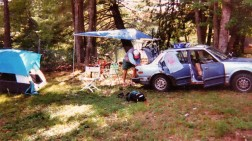 My friend Chris and I camping out for a mountain bike race in new Hampshire.
