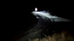 Long dark climb.