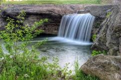 A waterfall in Kearney MO