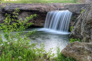 A waterfall in Kearney MO