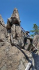 A modest rock scramble is a great way to stretch out after a back locking climb.
