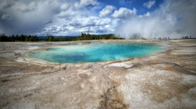 A turquoise pool