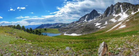 Looking back to Thunderbolt Lake