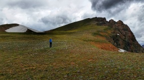 Over the next ridge we go