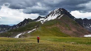 Comming off of the Echo Peak Ridge
