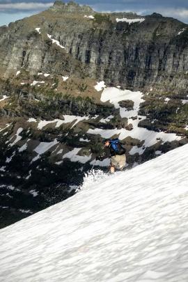 Paul skiing Glacier