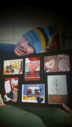 My cards ... framed