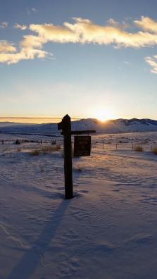 Sunrise over Horse Prairie Guard Station