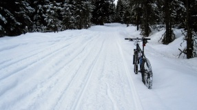 Not my first foray into snowmobile trail biking ... the first was in upstate NY.
