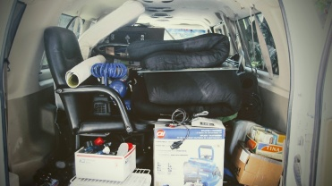 The van is all packed