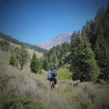 Climbing towards Garfield Peak
