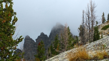 Peaks lining the North side of the Pine Creek drainage