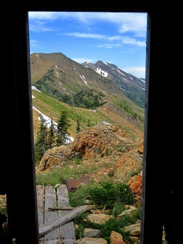 A view from the hut