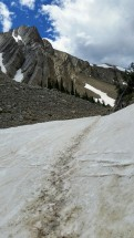 Pushing up the big snowbank.