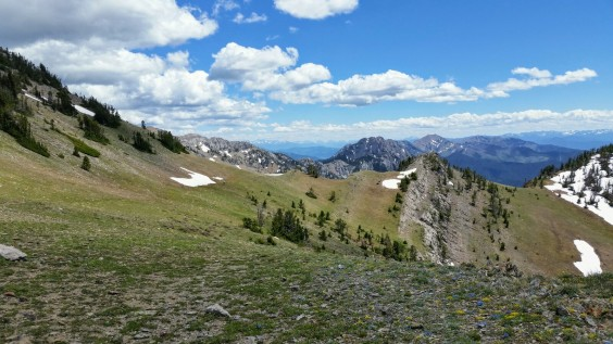 The view from Sacagawea Pass.