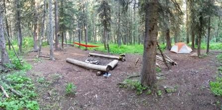 First night's camp