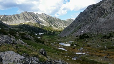 Descending from Summit Lake Pass