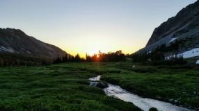 Sunrise over North Fork Creek