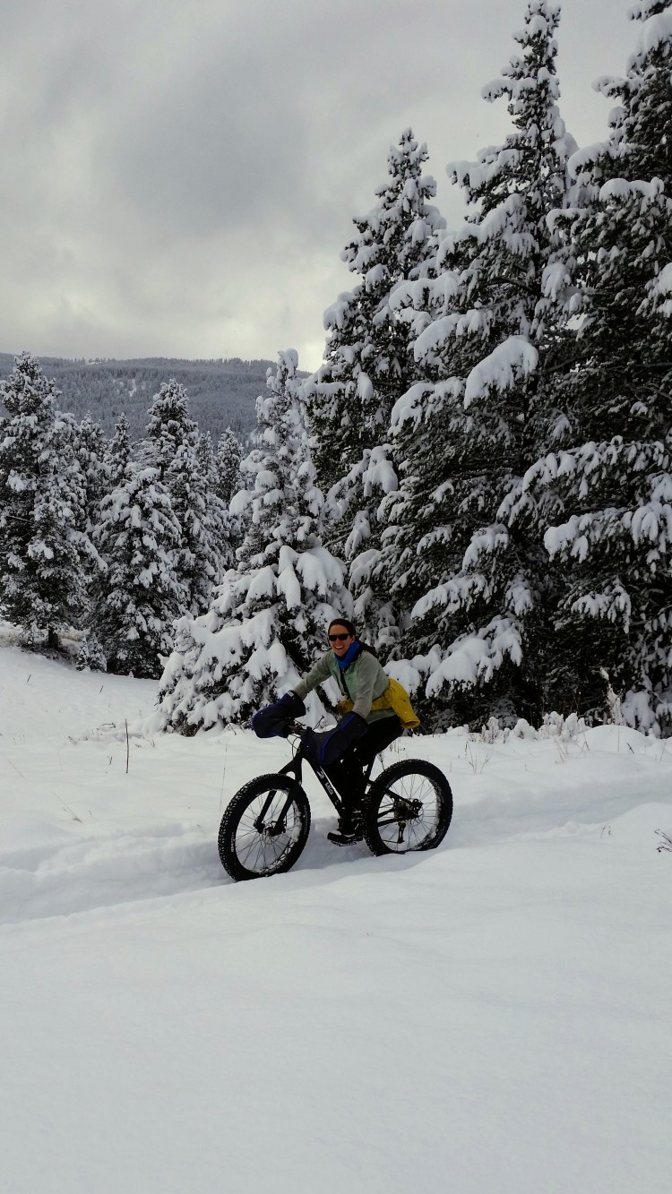 First Fat Bike at Hyalite