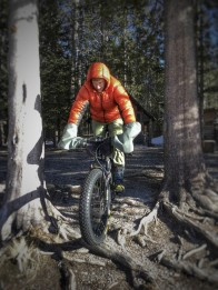 Probably the driest conditions ever but fat biking must go on