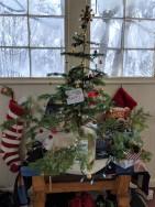 Our tree with our ninja bear M. R. McBear