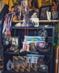 My trophy case that we dismantled when we moved to Livingston
