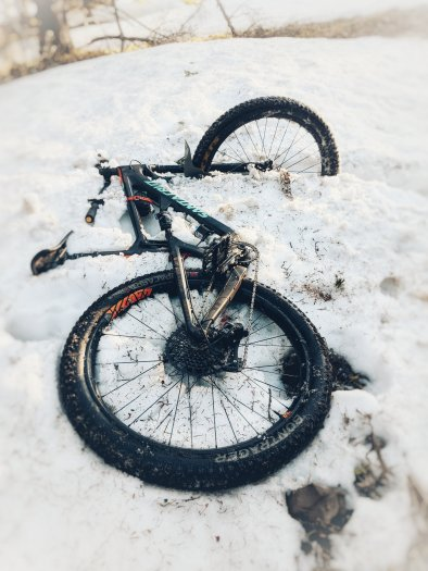 This is what happens when you ride early season
