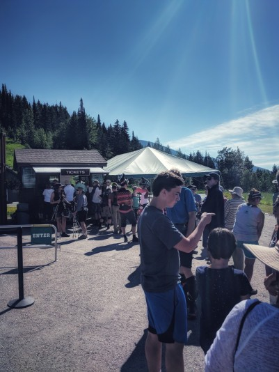 With Huckleberry season in full swing the lines at the lift ticket office or pretty large.