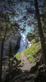 The falls come into view